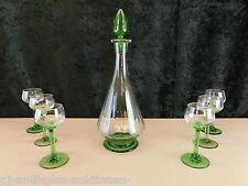 Art Deco Uranglas Karaffe set mit 6 gläsern Geprüft  um 1920  Top Zustand