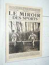 MIROIR SPORTS 1924 N°192 BEDEL CROSS BOXE RUGBY AVIATION DECKERT TENNIS FOOTBALL