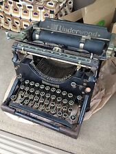 Awesome *1920's Vintage Antique UNDERWOOD black steel Standard Typewriter* Decor