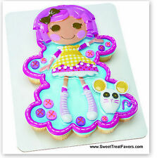 LALALOOPSY Cake Party Birthday Supplies Decoration Cupcake Kit Girl Doll Pink NW