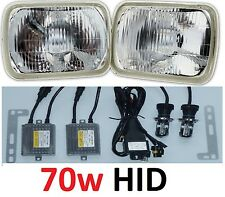 1pr 5x7 6x8 200x142 Semi Sealed H4 Hi/Lo Lights Headlights with premium 70w HID
