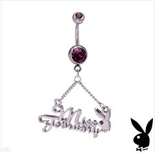 PLAYBOY Miss February Navel Belly Body Ring Piercing Gem Valentine's Teen Gift