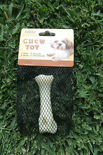 Hiho Australia Dog Toys - TOUGH Nylon Bacon Flavoured Chew Toy - Small Size Bone
