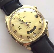 BULOVA ACCUTRON 14KT SOLID GOLD 218 ASTRONAUT MARK II DUAL TIME WATCH