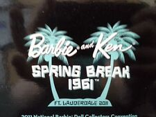 2011 Spring Break National Convention AA Barbie And Ken Platinum Label NEW NRFB