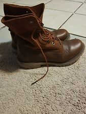 Women's Timberland Boots  Brown Leather Lace Up Sz 7.5 nwot suede, genuine leath