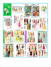 264 sewing patts for barbie, skipper,and others on DVD - free shipping