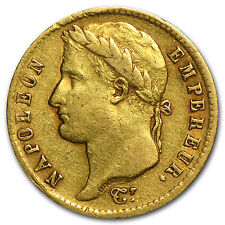 France 20 Francs Gold Coin - Napoleon I - Random Year - Average Circulated