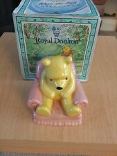 ROYAL DOULTON WINNIE THE POOH FIGURE In Armchair WP4 - boxed