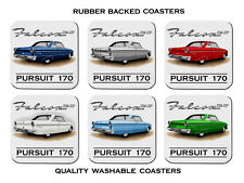FORD 64' 65'  XM - XP  COUPE PURSUIT 170  SET OF 6 QUALITY RUBBER DRINK COASTERS