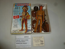 VINTAGE BOXED MARX CHIEF CHEROKEE THE MOVABLE INDIAN FIGURE 2063 COMPLETE RARE