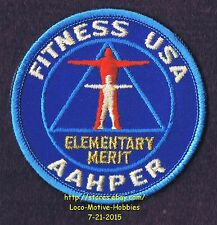 LMH PATCH Badge  FITNESS USA American Alliance ELEMENTARY MERIT AAHPER Phy Ed PE