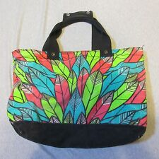 KID ROBOT LIL KLUB SUPAKITCH LARGE FEATHER 9306 Canvas Leather Tote HAND BAG