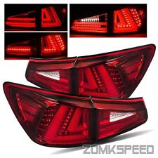 For 2006-2008 IS250/IS350 Red Clear Fiber Optic Left/Right LED Tail Lights Lamps