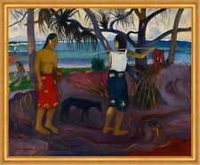 I raro te oviri, under the pandanus Paul Gauguin playa Isla palmeras B a1 03010