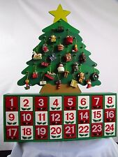 "Wooden Christmas Advent Calender Toys Cabinet 24 doors 16"" x 12"" Shelf or Hang"