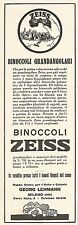 W2049 Binoccoli Grandangolari ZEISS - Pubblicità del 1929 - Vintage advertising