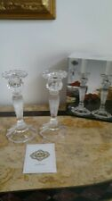 Shannon Crystal by Godinger Crystal Candle Stick Pair Candle Holders