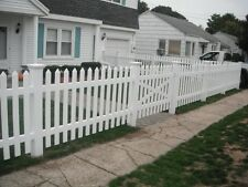 END Section -PVC Picket Fencing Fence 2.44m NO STAINING & PAINTING! BEST PRICE!!