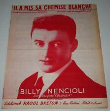 Partition vintage sheet music BILLY NENCIOLI : Il a mis sa Chemise Blanche *50's