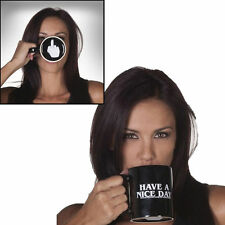 Ceramic Middle Finger Coffee Cup Personality Office Have A Nice Day Mug Gift NEW