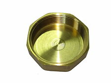2 Inch BSP Brass Cap / Blank Nut | British Standard Pipe Thread Fitting