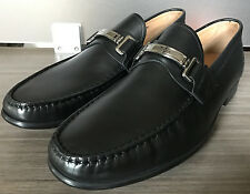 New BALLY SWITZERLAND CORTON BIT LOAFERS Black Shoes size 12 $550