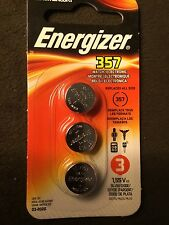NIP 3pk Energizer 357 Battery- 303 A76 AG13 FAST FREE SHIPPING  EXP. 3/2020