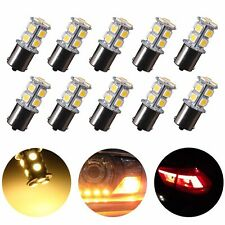 10X Warm White 1156 13SMD LED RV Camper Trailer 1141 Interior Light Bulbs 12V