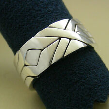 (SOLIDER) Unique Puzzle Rings by PuzzleRingMaker - 925 Silver - Any Size