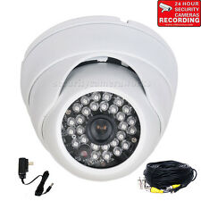 "Security Camera IR w/ 1/3"" Sony Effio CCD 600TVL High Resolution Wide Angle BTS"