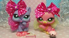 Littlest Pet Shop Katze #1562 Licking Cat #? Purple ☆♡ Accessoires Zubehör rare