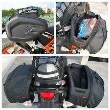 2 × Side Saddle Bags Package Motorcycle Bag Helmet With Waterproof Cover
