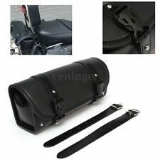 Motorcycle PU Leather Saddle bag Roll bag Storage Tool Pouch For Harley Davidson