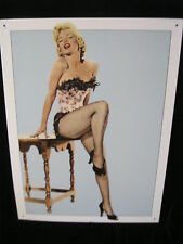 MARILYN MONROE METAL SIGN - BERNARD - MARILYN LACE -  CMG WORLDWIDE, INC.