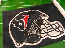 HOUSTON TEXANS COACH MIKE VRABEL SIGNED CAR FLAG NEW COA FROM MMA