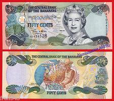 BAHAMAS 1/2 half Dollar dolar 2001 Pick 68  SC / UNC