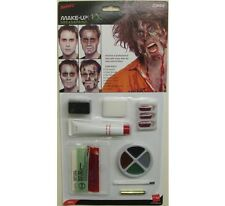 Halloween Fancy Dress Zombie Make Up Face Paint Set Blood & Sponge by Smiffys