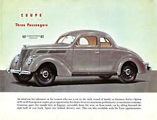 Old Print.  1937 Ford V-8 Three Passenger Coupe Auto Ad