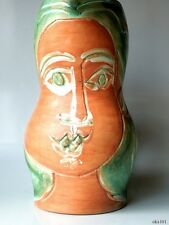 PABLO PICASSO Authentic Madoura Woman's Face PITCHER 1953 Ramié 192 56/200 -HUGE