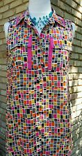 Cousin earl by IvyJane casual Large pixel tunic top sleeveless with front pocket