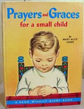 Vintage GIANT Rand McNally Book PRAYERS AND GRACES FOR A SMALL CHILD