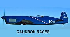 Model Airplane Plans (UC): Vintage French CAUDRON RACER 1/12 Scale (Musciano)
