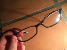 graphics eyeglasses 48 15-140 rx +2? black with cheetah inside frames