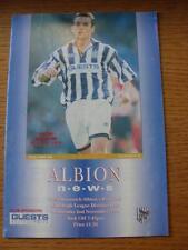 02/11/1994 West Bromwich Albione V PORT VALE (piegato)