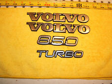 Volvo 1996 850 Turbo Rear deck lid /extra plastic Genuine OEM 1 set of 4 Emblems