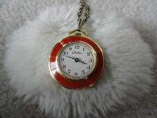 Pretty Swiss Made Chateau Wind Up Necklace Pendant Watch