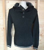 NEW MENS SIZE SMALL HOODED KNIT JUMPER HOODIE HOODY BY BRAVE SOUL