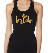 HENS NIGHT BRIDAL SHOWER IRON ON TRANSFER GLITTER GOLD - BRIDE TO BE