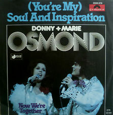 "7"" 1977 MINT- DONNY & MARIE OSMOND Soul And Inspiration"